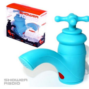 Satzuma Shower FM Radio - Water Resistant Tap - Blue